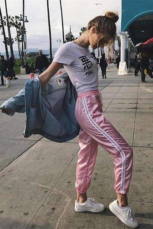 Colour outfit, you must try gym sweatpants women, street fashion, womens pants