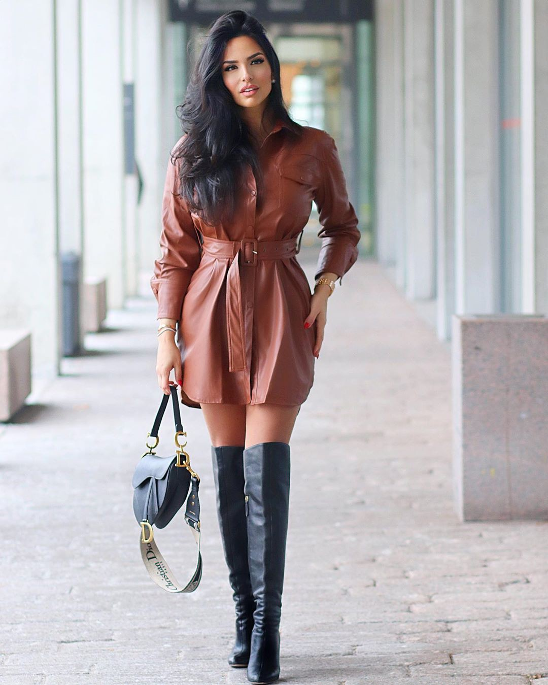 brown clothing ideas with knee-high boot, boot, apparel ideas