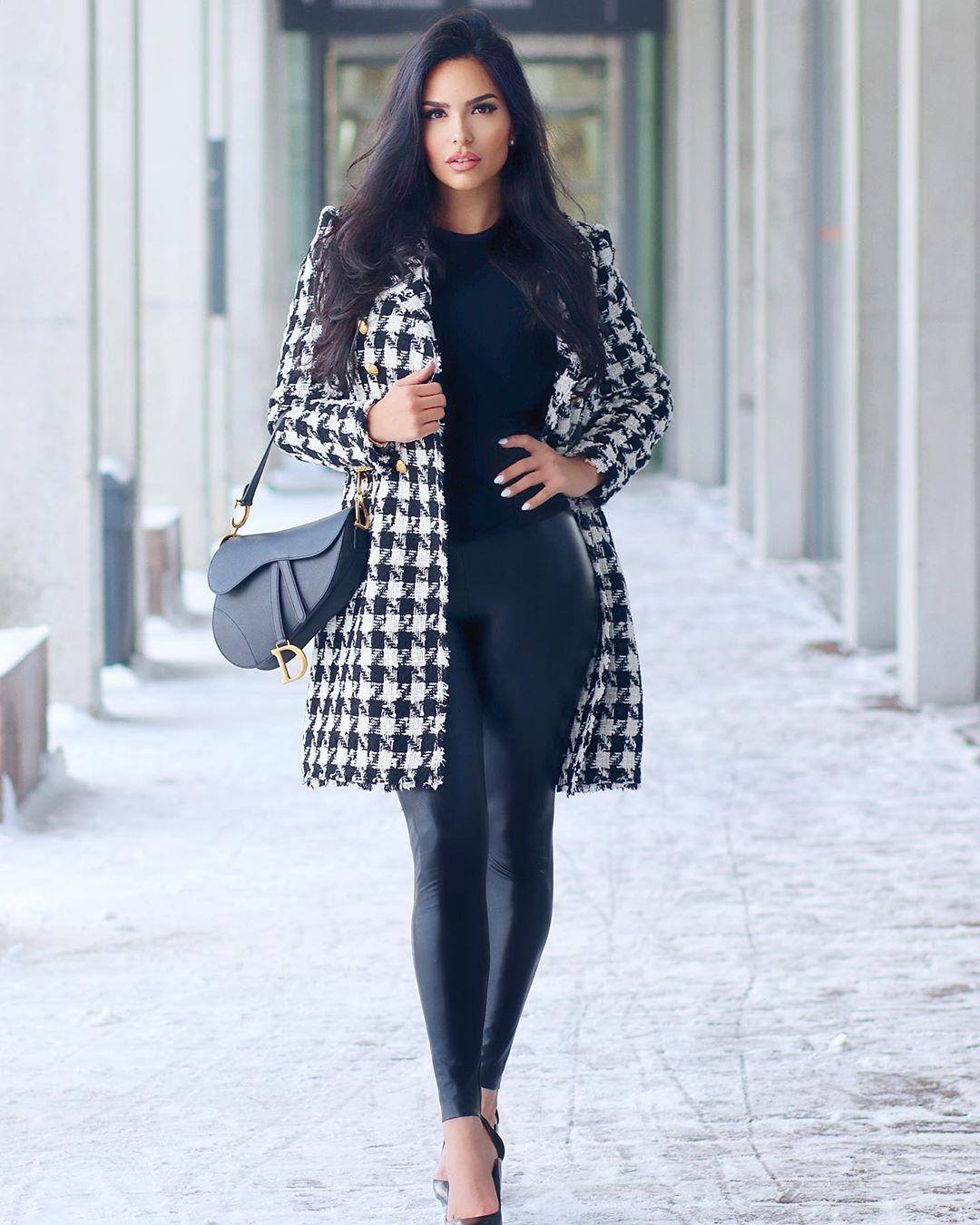 Shadi Y Cair dress coat colour outfit, shoe