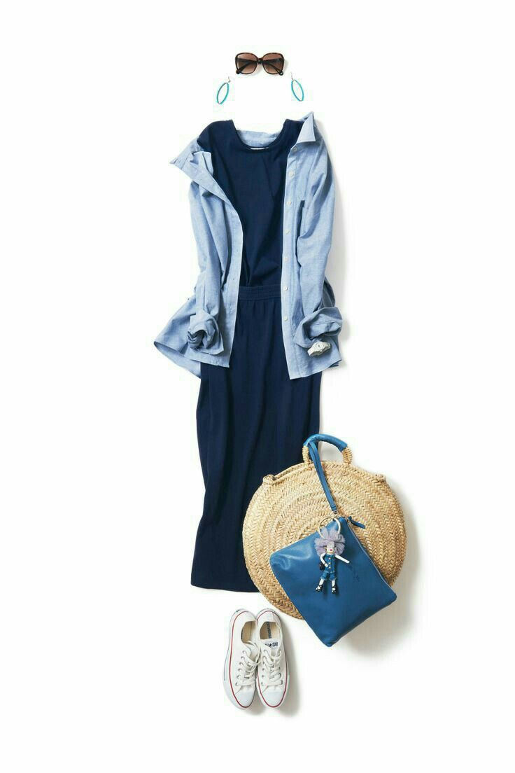 Electric blue and blue outfit Stylevore with jersey, skirt, jeans