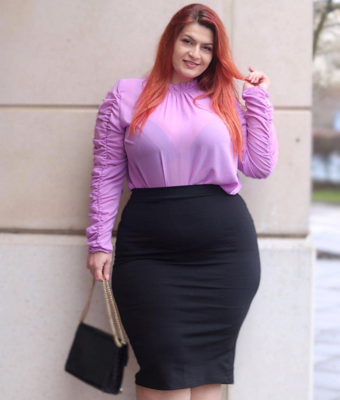 Magenta and purple pencil skirt, fashion ideas, pencil skirt