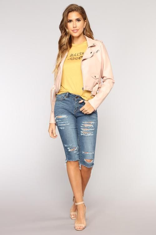 Yellow and beige colour combination with bermuda shorts, shorts, jeans
