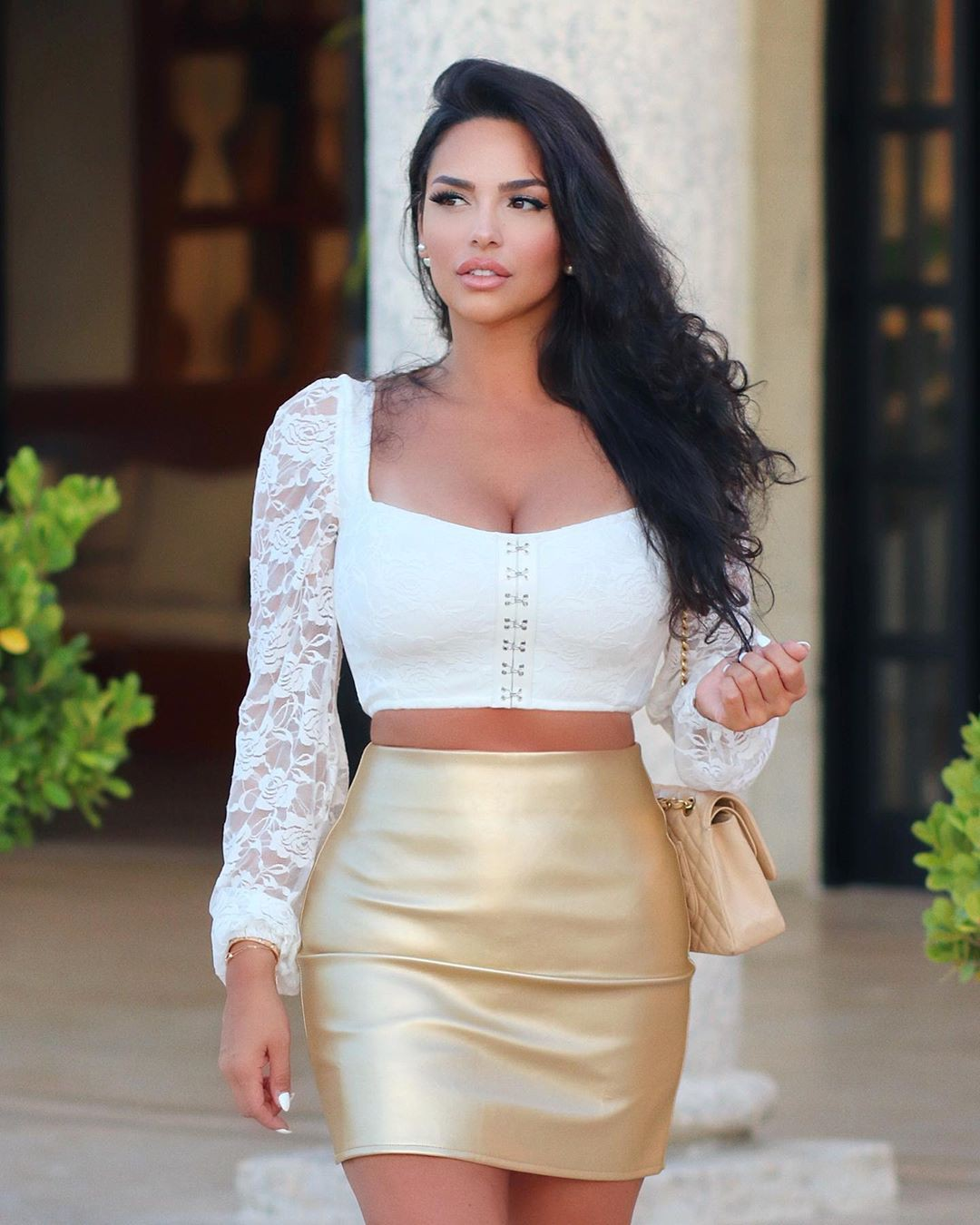 Yellow and white dress pencil skirt, fashion tips