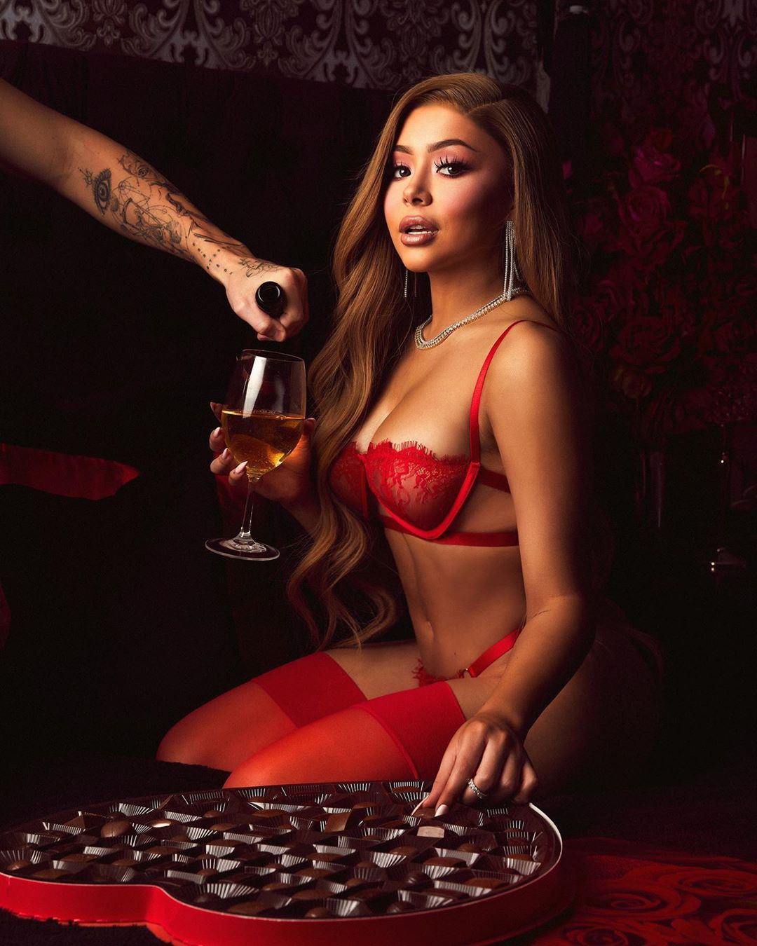 Daisy Marquez hot pics in lingerie matching outfit, photoshoot poses, photography for girl
