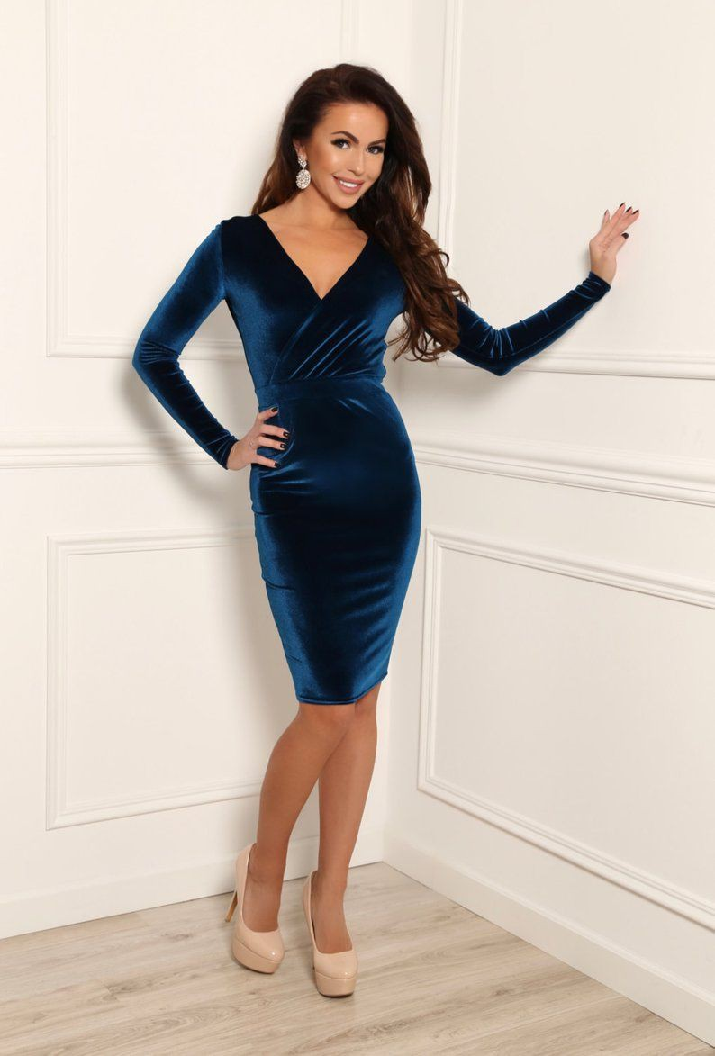 Electric blue and cobalt blue outfit ideas with little black dress, cocktail dress, evening gown ...