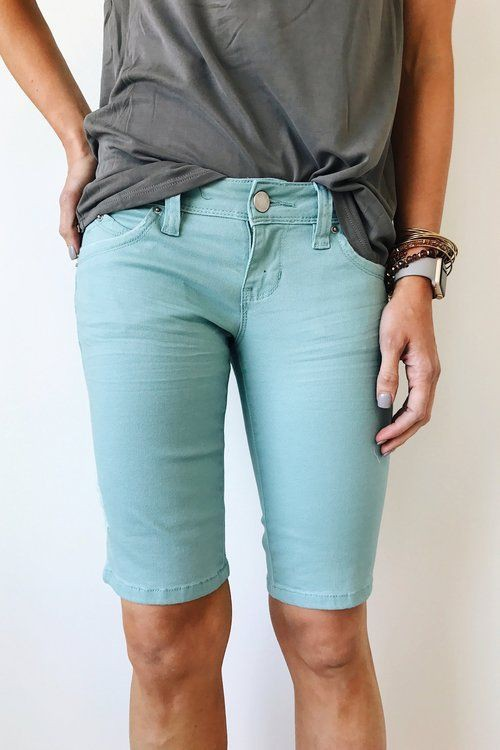 Womens knee length cute shorts