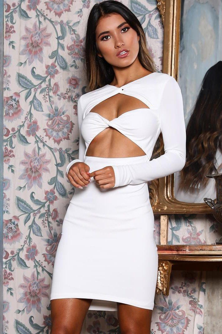 White colour outfit ideas 2020 with cocktail dress