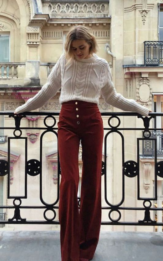 Flare pants outfits winter, winter clothing, street fashion, bell bottoms, casual wear