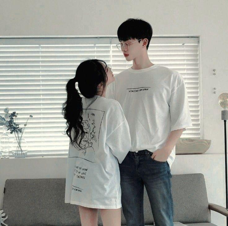 Clothing ideas ulzzang couple morning, korean language, korean idol, t shirt, k pop