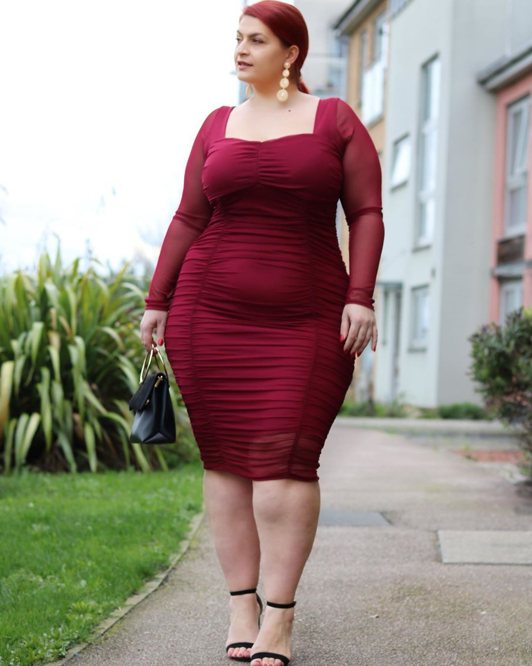Magenta and maroon cocktail dress, apparel ideas