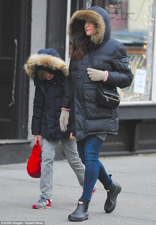 Hunter boots chelsea in the winter