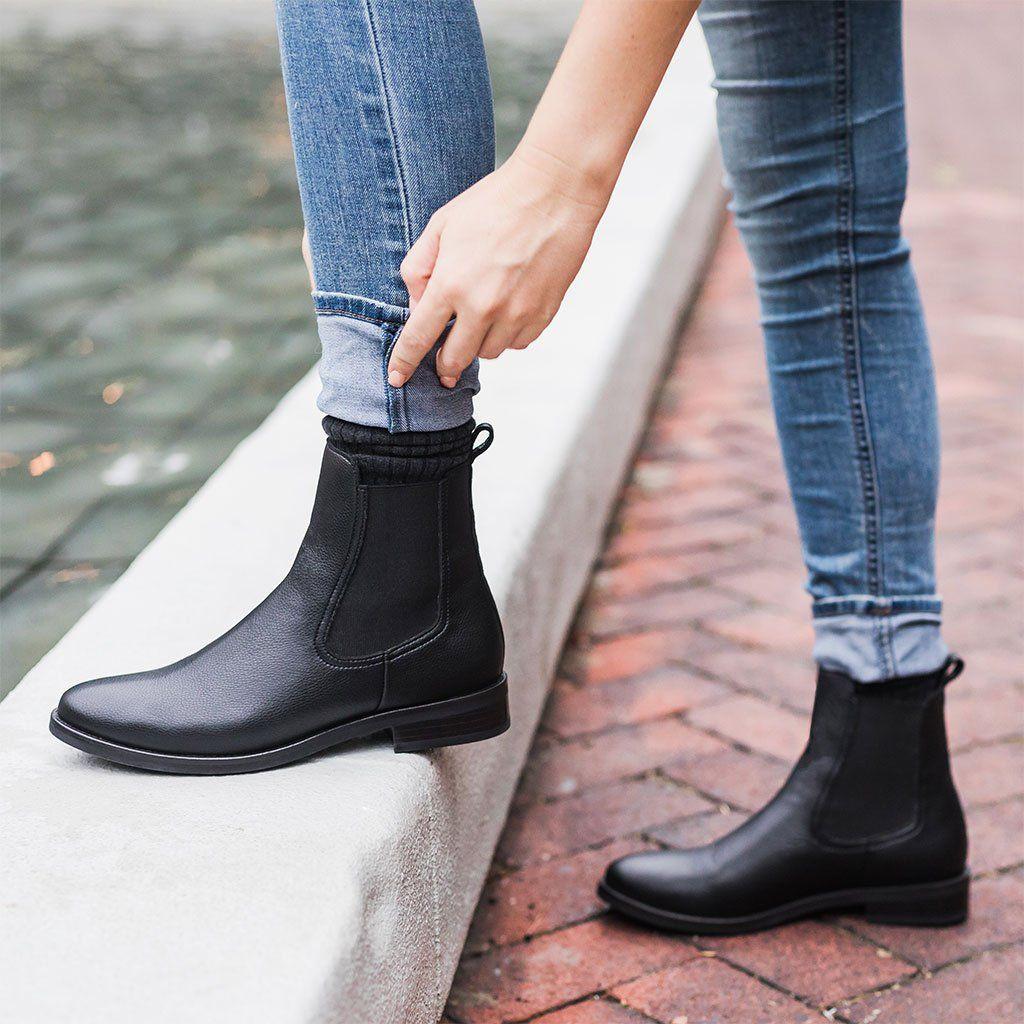 Colour outfit sztyblety damskie stylizacje chelsea boots leather, street fashion