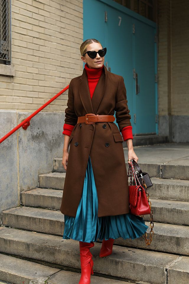 Electric blue and turquoise trendy clothing ideas with fashion accessory, skirt, coat