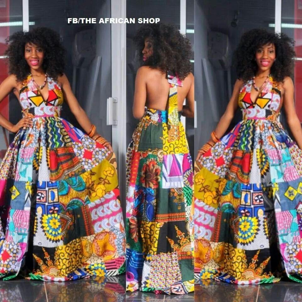 Instagram fashion african made dresses african wax prints, little black dress