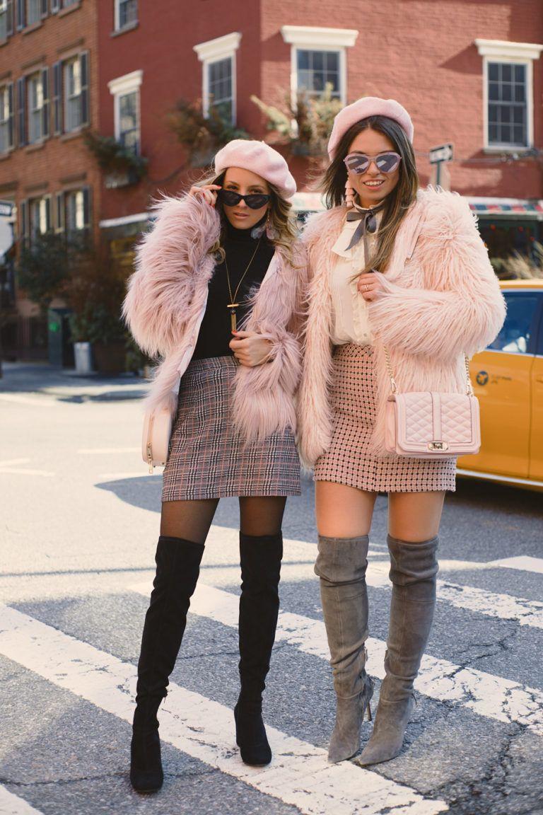 Fur jacket outfit ideas high heeled shoe, street fashion