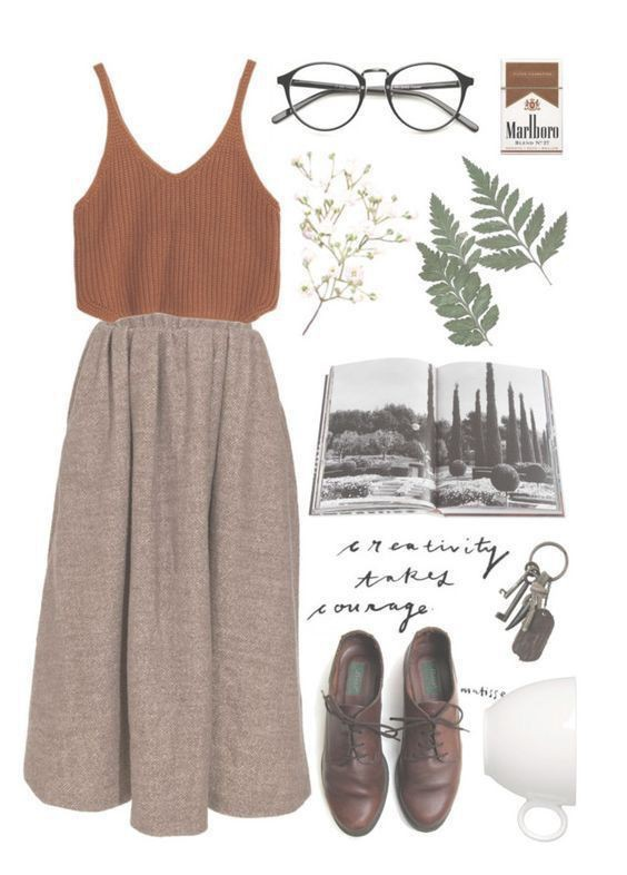 Brown colour outfit ideas 2020 with fashion accessory, skirt