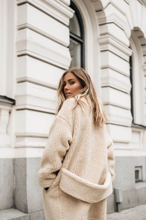 Colour outfit ideas 2020 teddy coat style, winter clothing, street fashion, formal wear, teddy bear