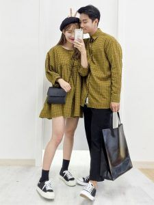 Colour outfit, you must try korean couple fashion, korean language, street fashion