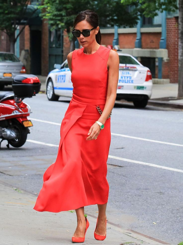 Colour outfit, you must try victoria beckham best, victoria beckham, street fashion, fashion mod ...