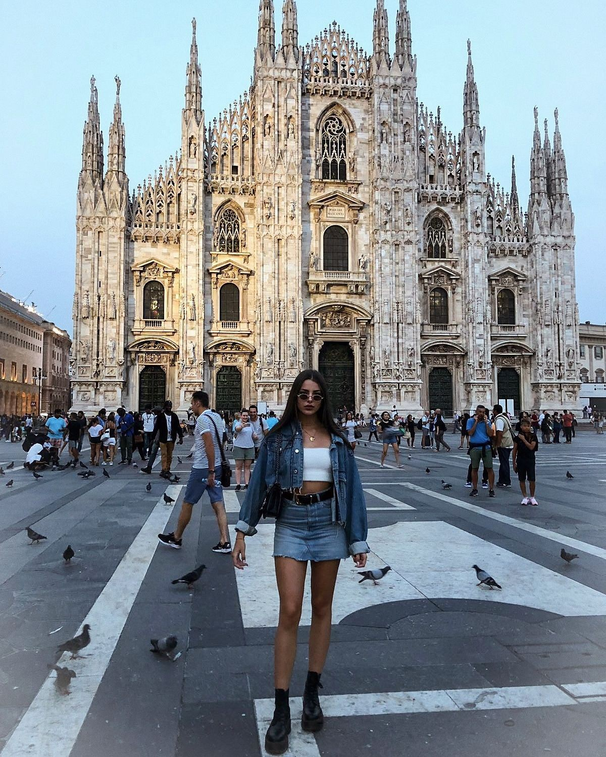 Colour outfit, you must try milan cathedral,