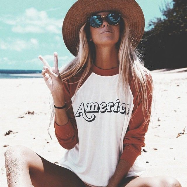 La playa tumblr con sombrero