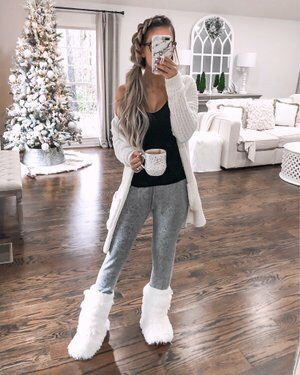 Brown and white clothing ideas with trousers, jacket, jeans