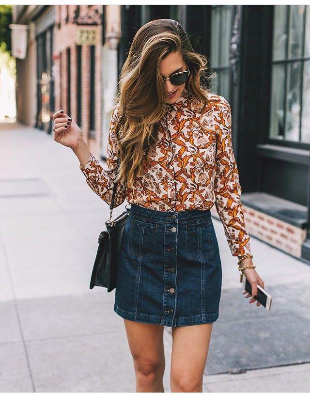 Attire 70s skirt outfits, street fashion, casual wear, denim skirt