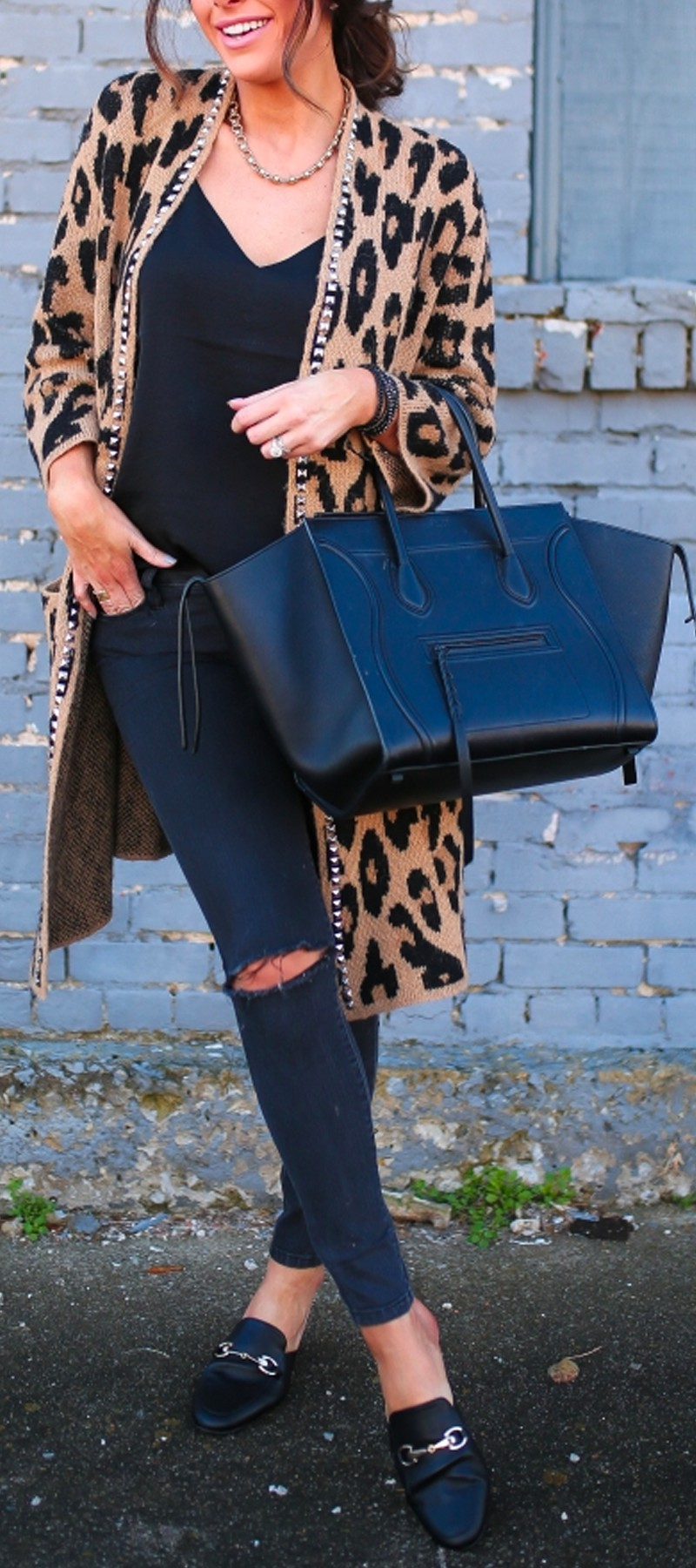 Electric blue colour outfit, you must try with animal print, mom jeans, leggings