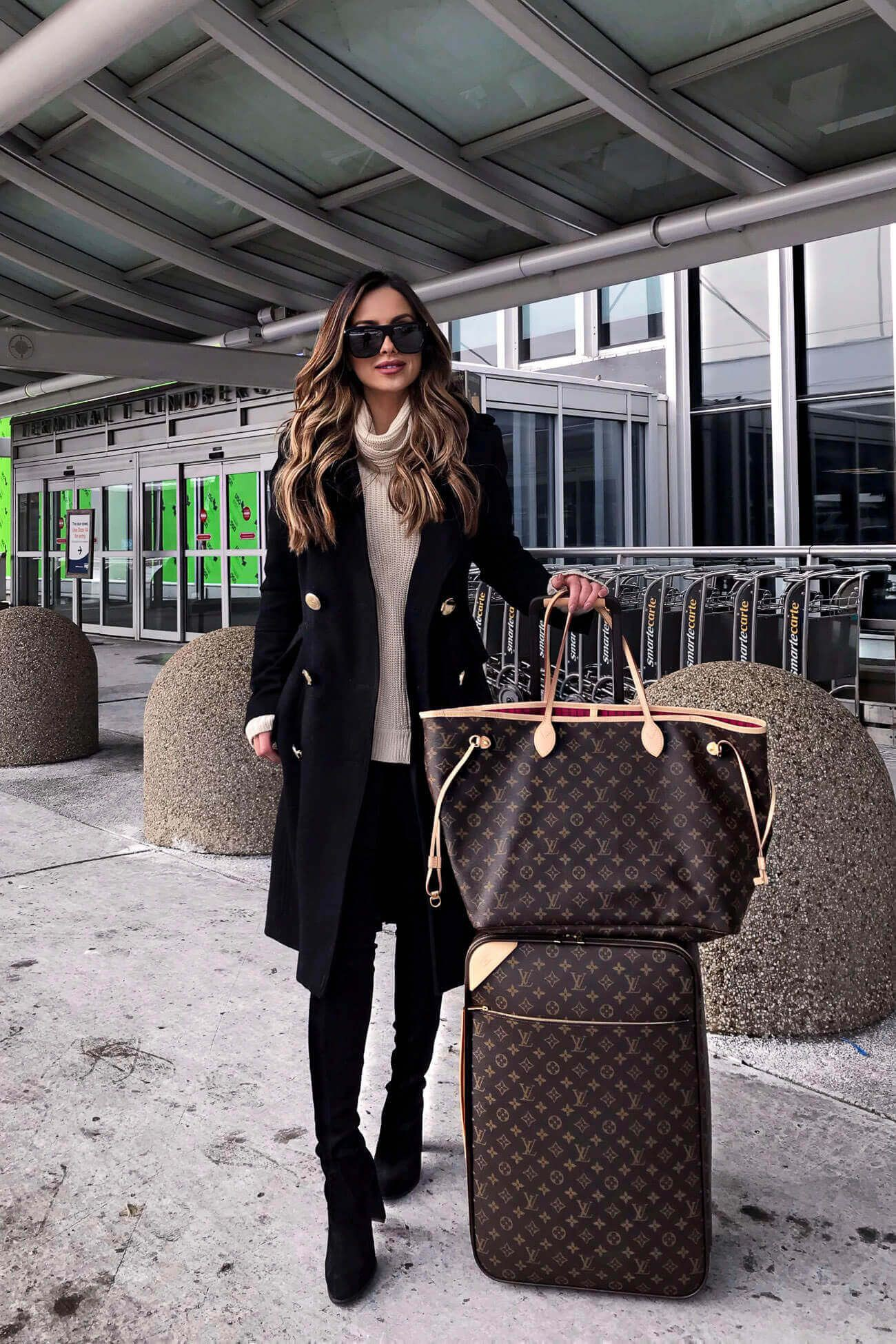 Outfit louis vuitton bag airport