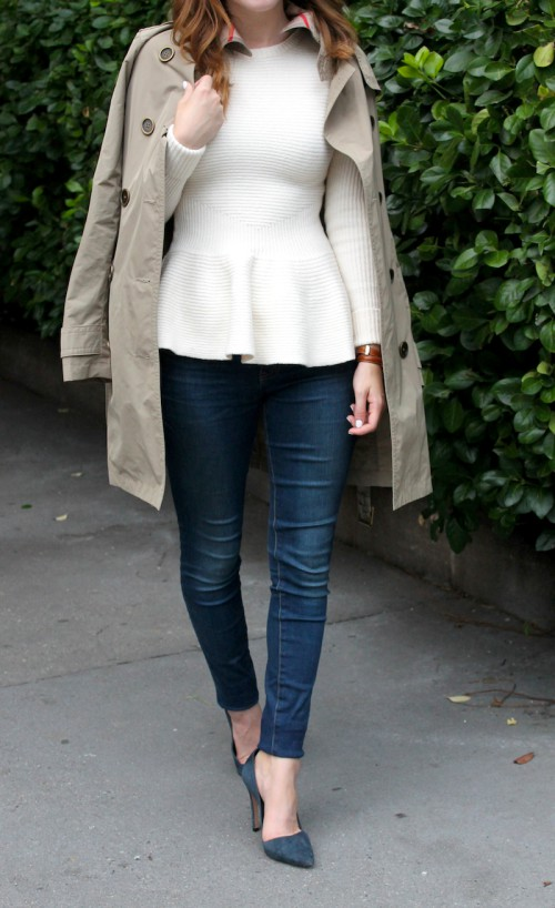 Brown and white colour ideas with trench coat, blazer, jacket
