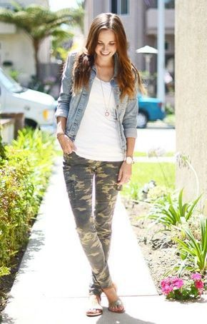 Outfits with camo jeans slim fit pants, military camouflage