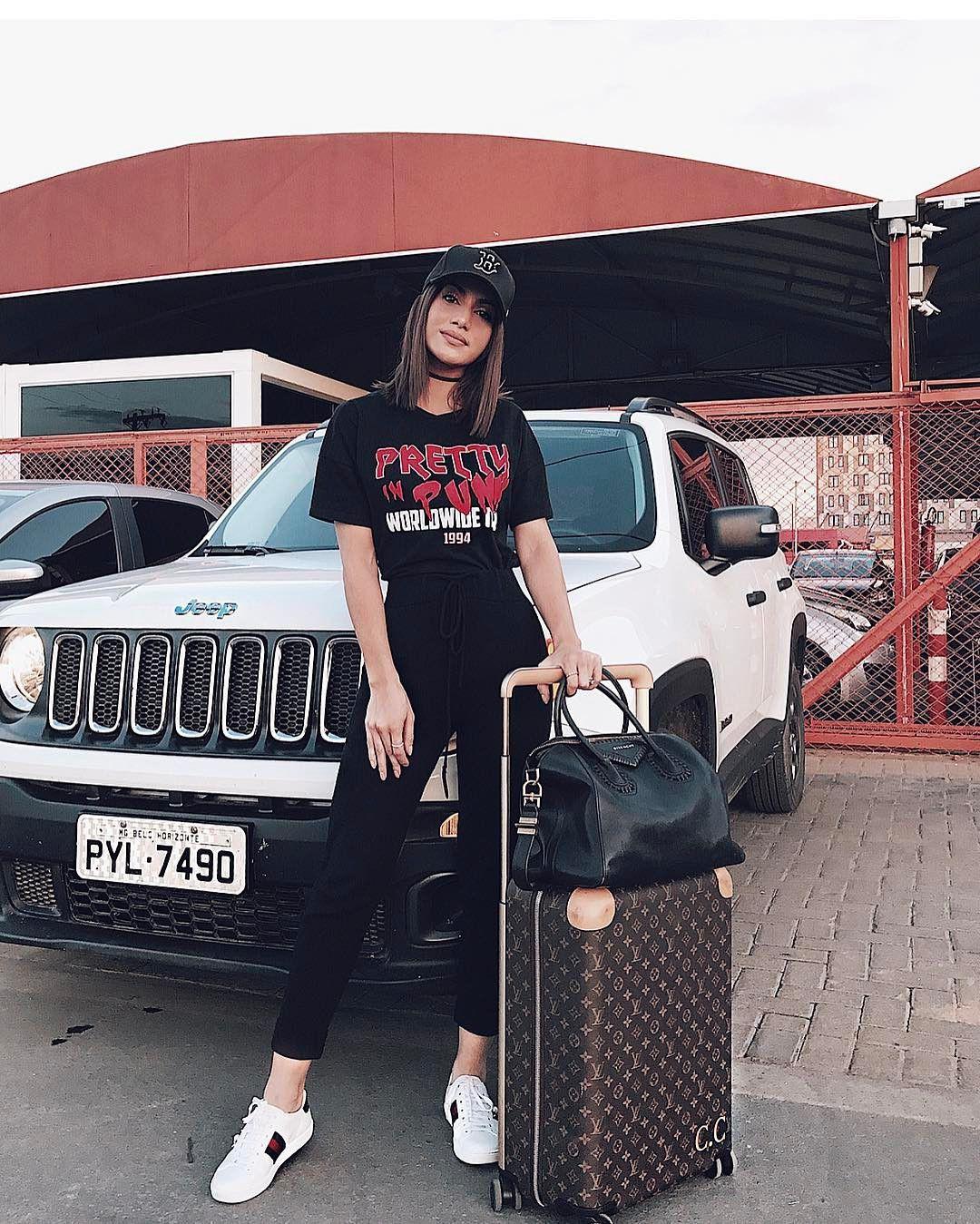 Camila coelho airport look, luxury vehicle, street fashion, camila coelho