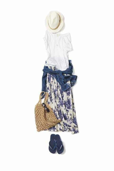 Beige and white colour dress with jacket, jeans, skirt