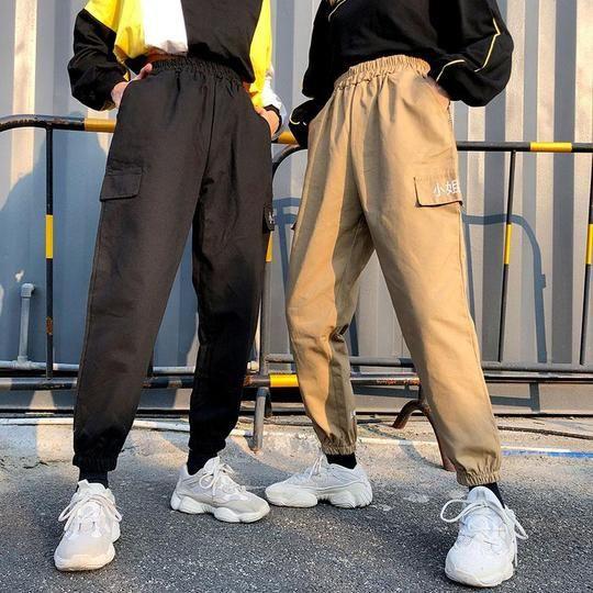 Cargo pants streetwear women hip hop fashion, street fashion