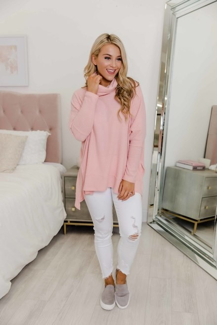 White and pink style outfit with pajamas, blouse