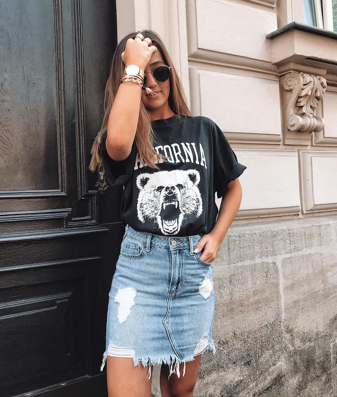 Black fashion collection with jean short, shorts, jeans