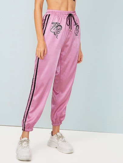 Magenta and pink colour combination with active pants, sportswear, sweatpant