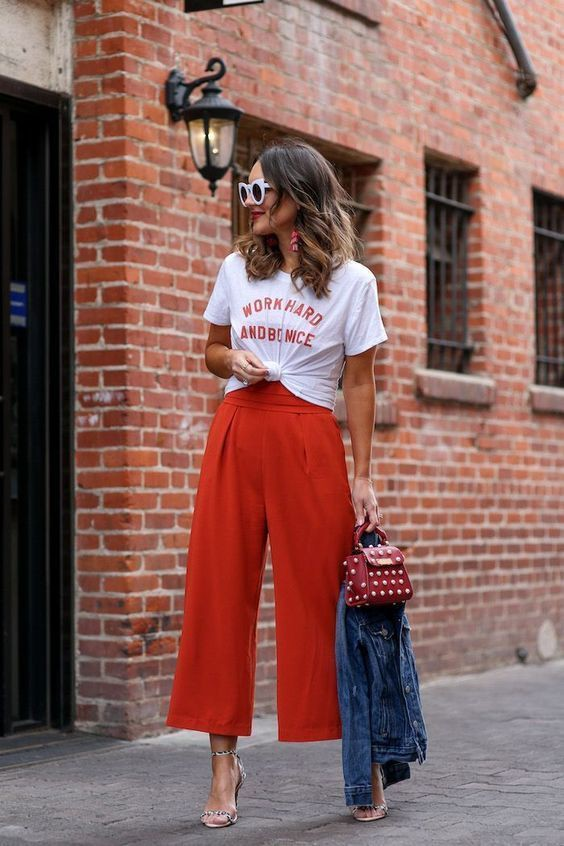 Dress down a jumpsuit, street fashion, t shirt