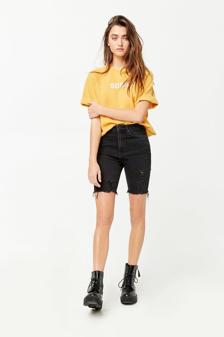 Yellow dresses ideas with bermuda shorts, trousers, shorts