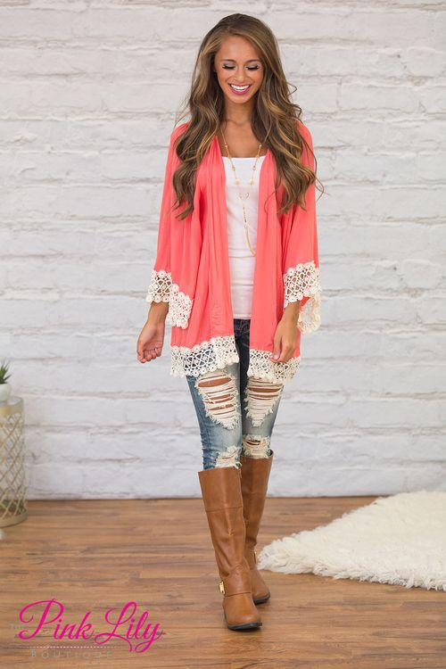 Orange and pink colour dress with trousers, jacket, blazer