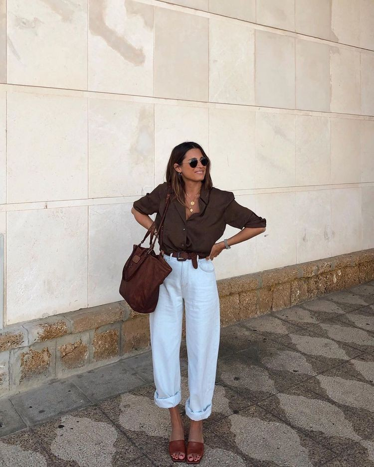 Brown and white colour outfit ideas 2020 with trousers, skirt, jeans