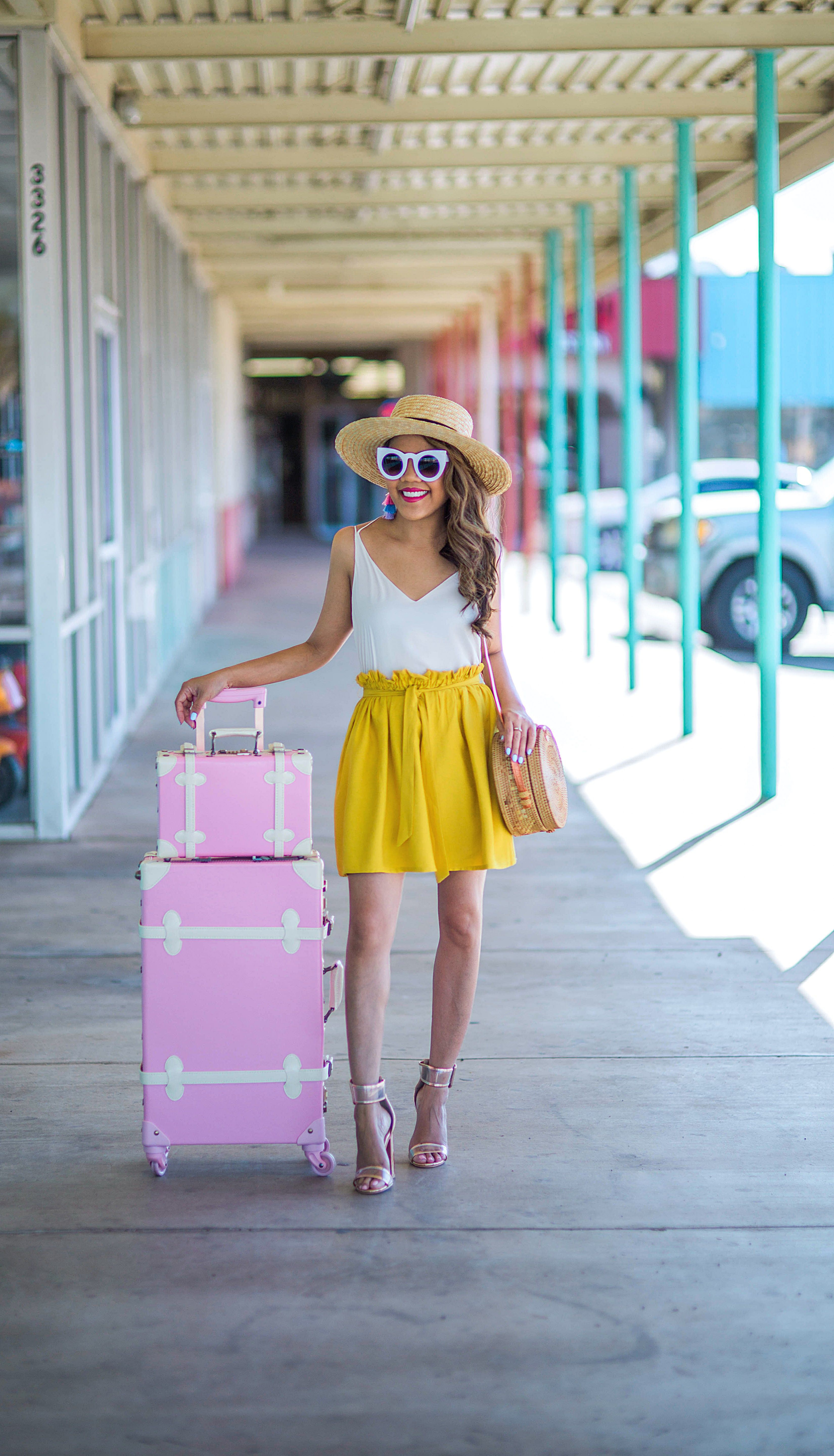 Yellow colour outfit with