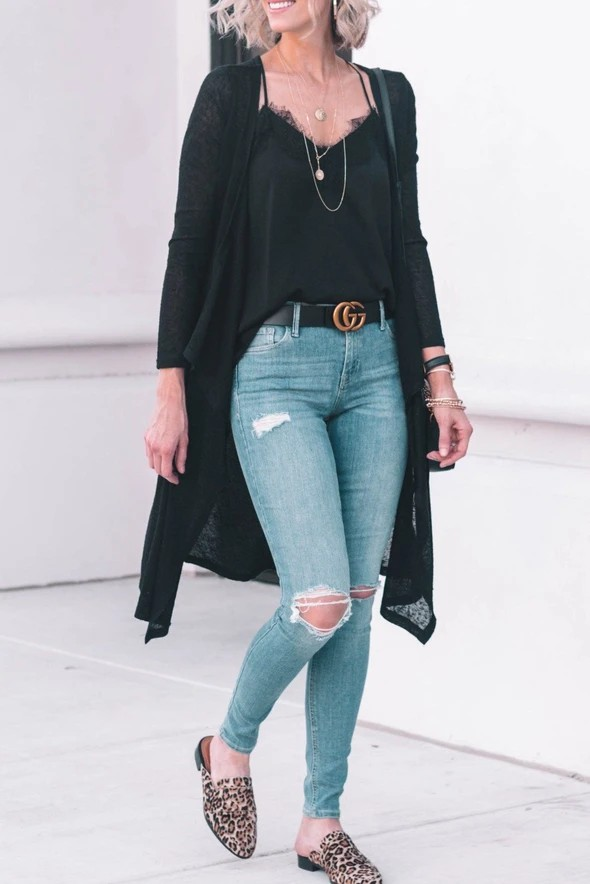 Black trendy clothing ideas with fashion accessory, trousers, blazer