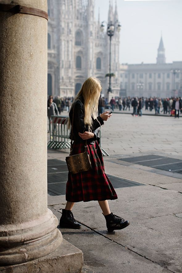 Outfit Stylevore with tartan, skirt