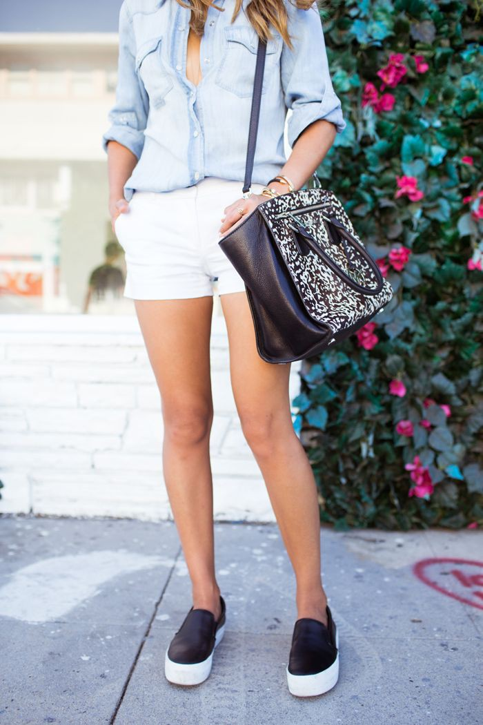 Black slip on shoes outfits