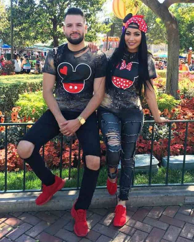 Attire ideas matching outfit couples, couple costume, street fashion, minnie mouse, t shirt