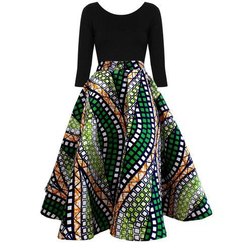 African print circle dress african wax prints, pencil skirt