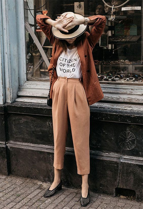 Calça alfaiataria feminina vintage