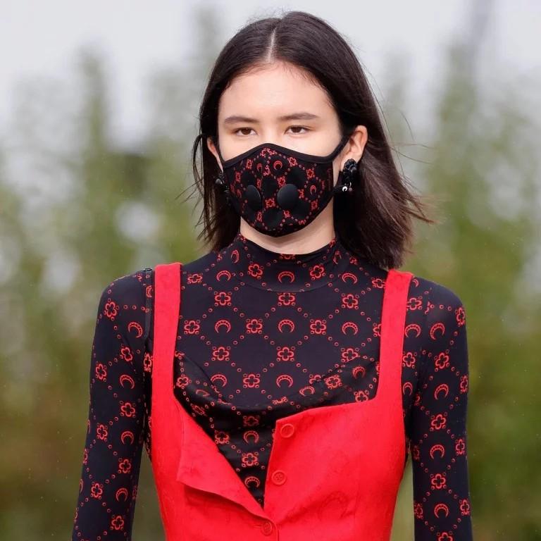 Colour dress gucci face mask, italian fashion, street fashion, luxury goods