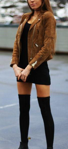 Suede jacket black dress little black dress, winter clothing